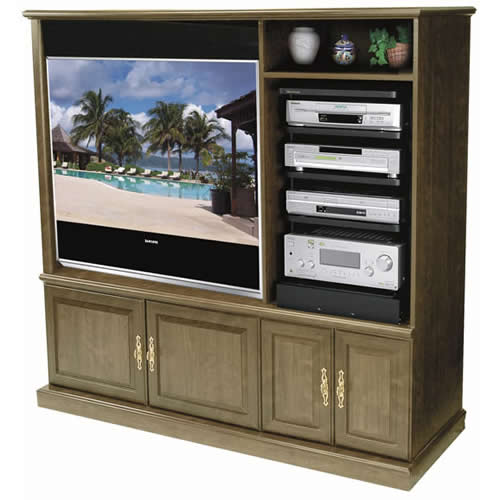 middle atlantic asr series rotating slide out shelving system in use with entertainment center - icon