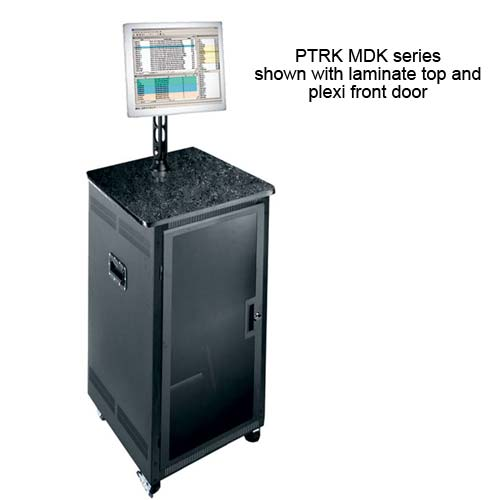 portable racks with laminate top and plexi front door - icon