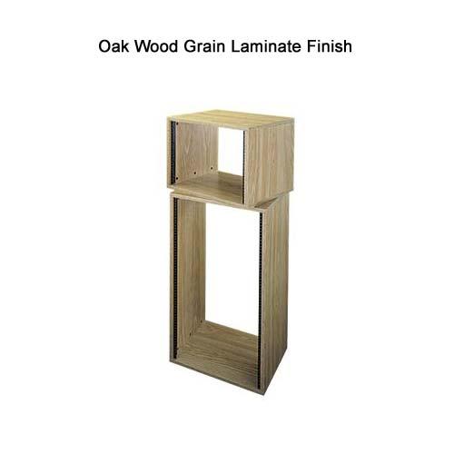Middle Atlantic RK Series Laminate Enclosure with oak wood grain finish icon