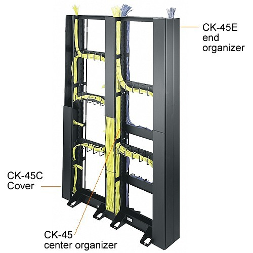Middle Atlantic RL Series Open Frame 2-Post Racks with center and end cable organizers icon