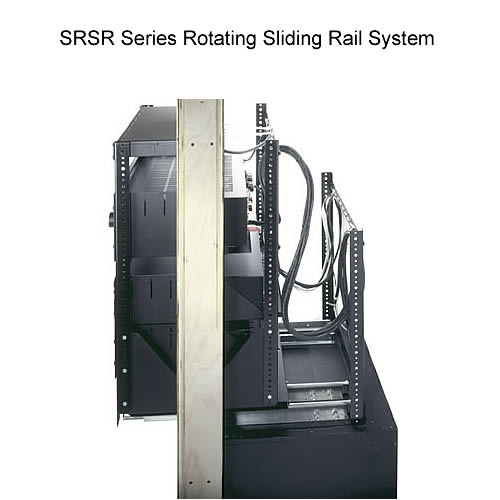 side view of middle atlantic srsr series rotating sliding rail system - icon