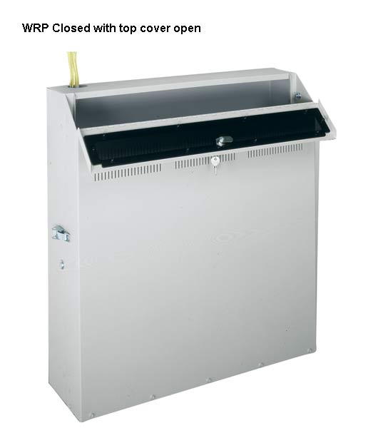 Middle Atlantic WRP Series Low Profile Wall Enclosure with top cover open icon