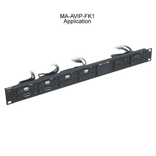 Middle Atlantic AVIP Rackmount Panel, 14 Single or 7 Dual Application