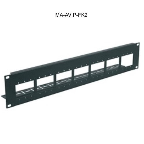 Middle Atlantic AVIP Rackmount Panel, 21 Single,7 Dual or 7 Triple