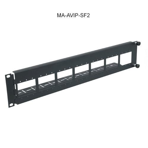 Middle Atlantic AVIP Rackmount Panel Swingou, 14 Single, 7 Dual or 7 Triple