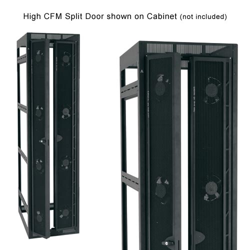 middle Atlantic High CFM Split Rear Door shown on cabinet icon