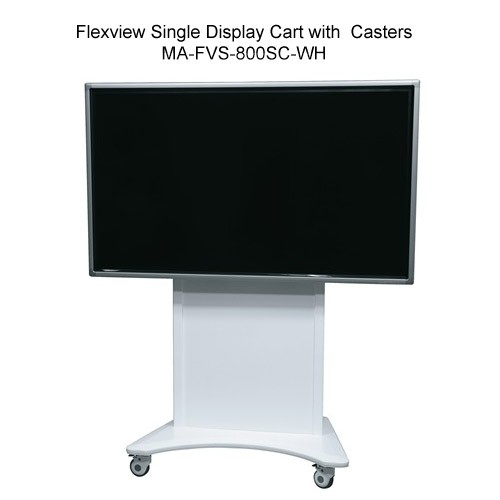 Middle Atlantic Flexview Single Display Cart Stand with Casters