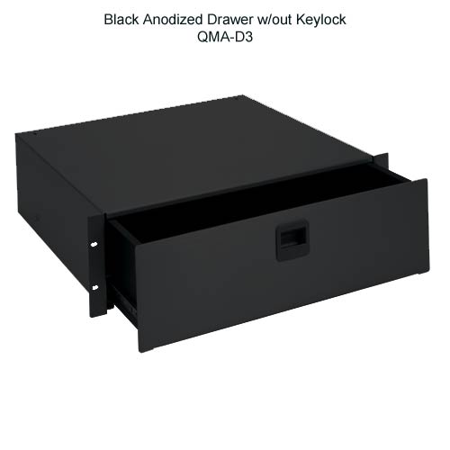 silver anodized rack mountable drawer, DC3 - icon
