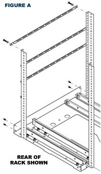 figure A home theater cabinet installation
