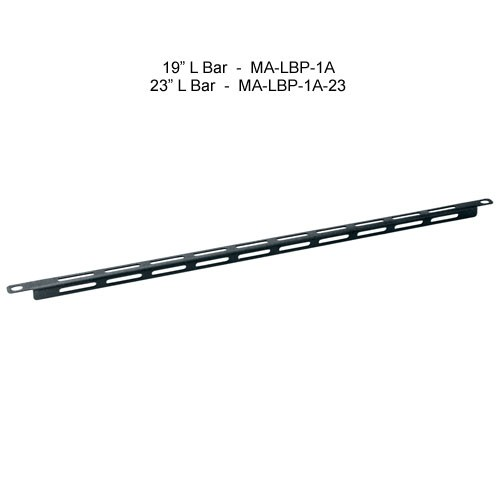 middle atlantic 19 inch l bar and 23 inch l bar horizontal lacer bar icon