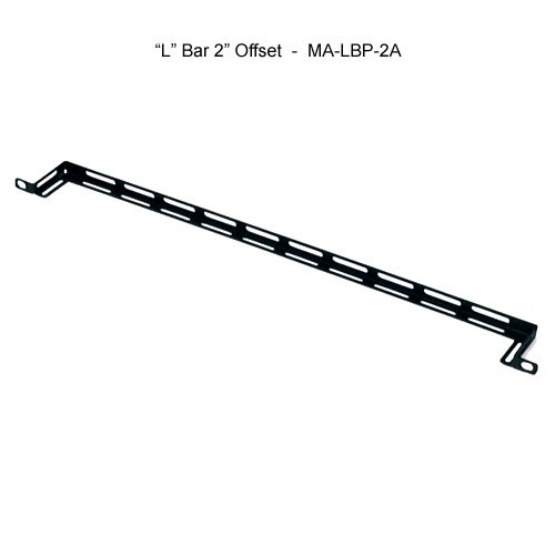 middle atlantic 19 inch l bar with 2 inch offset horizontal lacer bar icon