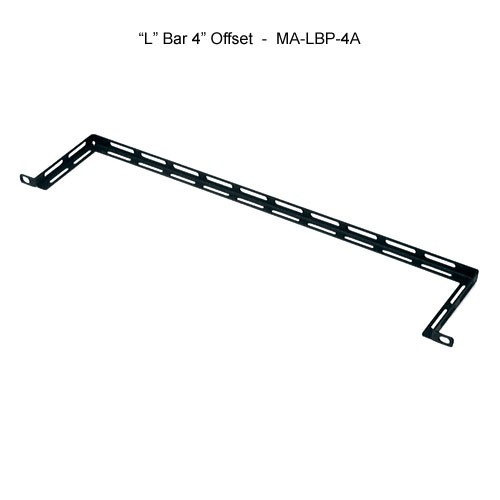 middle atlantic 19 inch l bar with 4 inch offset horizontal lacer bar icon