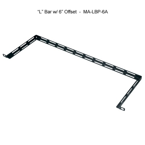middle atlantic 19 inch l bar with 6 inch offset horizontal lacer bar icon