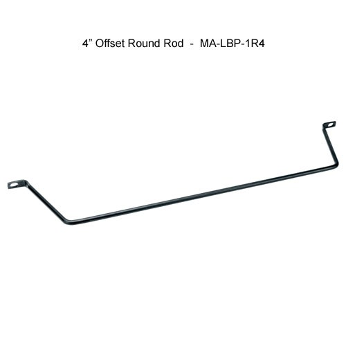 middle atlantic 4 inch offset round rod horizontal lacer bar icon