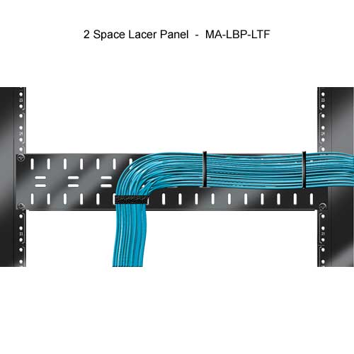 middle atlantic 2 space horizontal lacer panel with cables installed icon