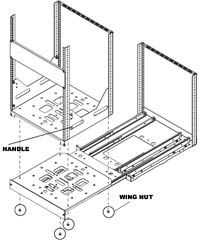 diagram showing points of removal for SRSR Rack