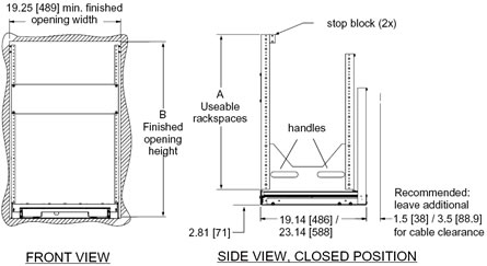 sectional diagrams of home theater rack