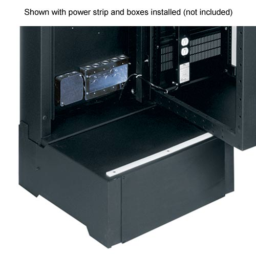 Middle Atlantic SR Series Pivoting Rack Enclosure shown with power strip and boxes installed icon