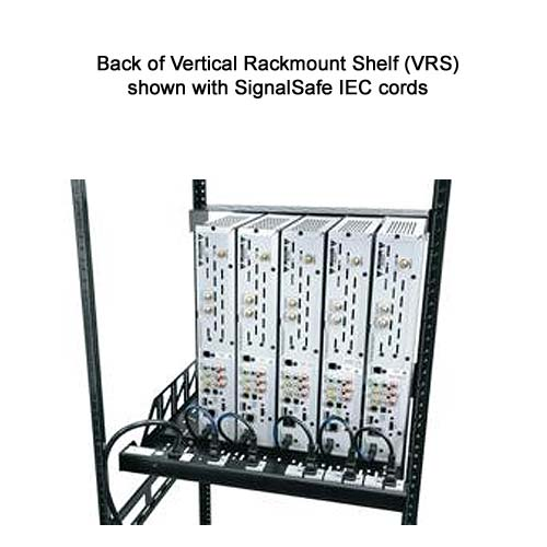 rear view of Middle Atlantic Vertical Rackmount Shelf shown with signalsafe iec cords icon