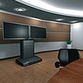 Middle Atlantic VTC Video Cart Dual Display Black in Conference room