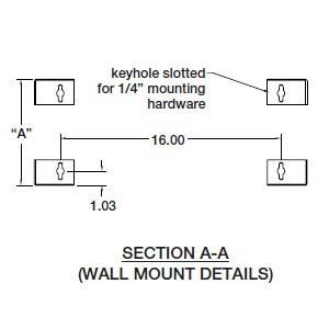 drawing of wall mounting