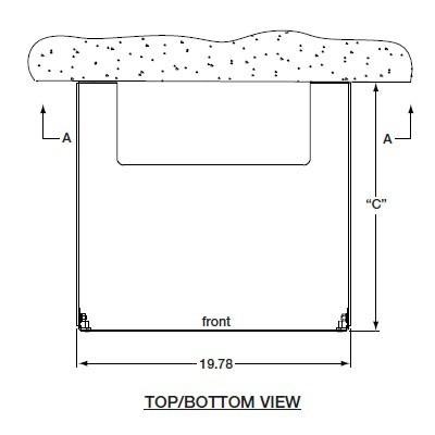 drawing of wall mounted enclosure