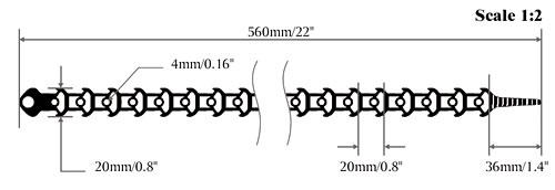 heavy duty millie-tie dimensions