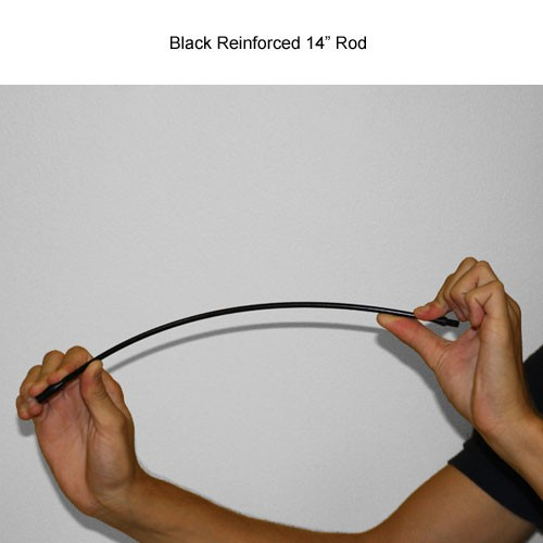 14 inch black reinforced Mille-Rod conductive Push Pull Rod being bent icon