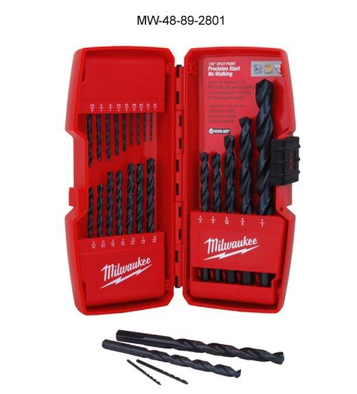 Milwaukee 21pc Thunderbolt Black Oxide Drill Bit Set in case icon