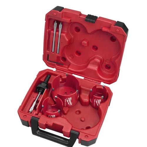 milwaukee 7-Pc Big Hawg Hole Cutter Kit in case icon