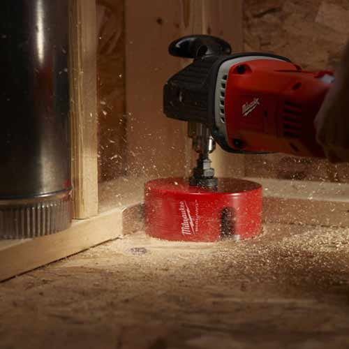 milwaukee 7-Pc Big Hawg Hole Cutter Kit in use icon
