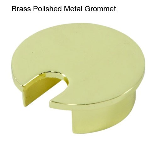 "Brass Polished Metal Grommet for 2.5"" hole"