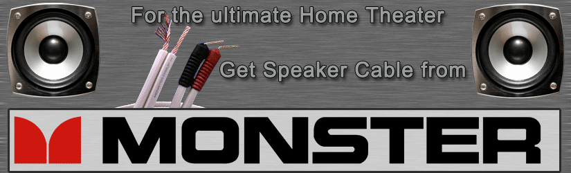 Monster Speaker Cable for home theater