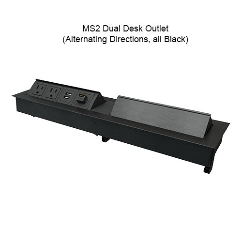 MS2 Dual Desk Outlet Alternate Directions All Black - icon