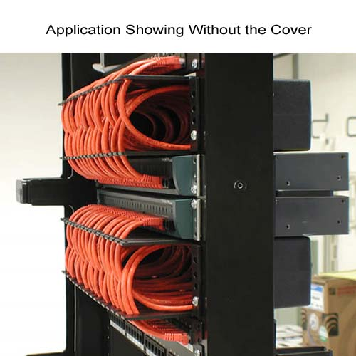 application of neat patch cable management unit without cover on rack