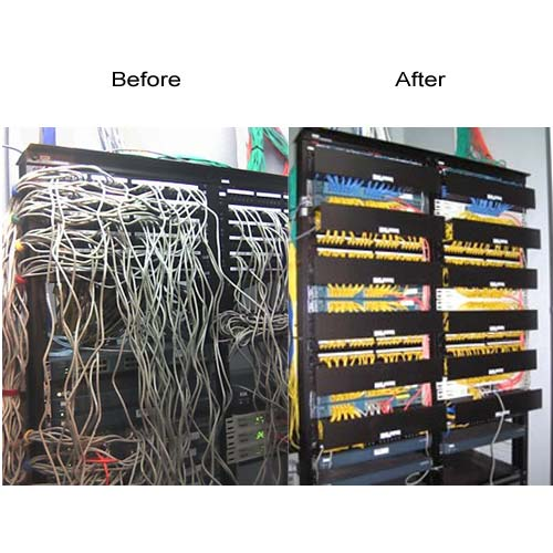 before and after application of a neat patch unit on rack