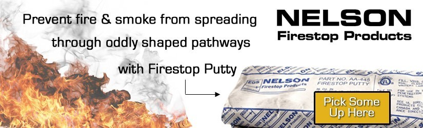 Nelson Firestop moldable putty pads