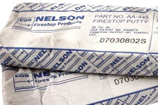 Nelson Firestop putty, composite sheet