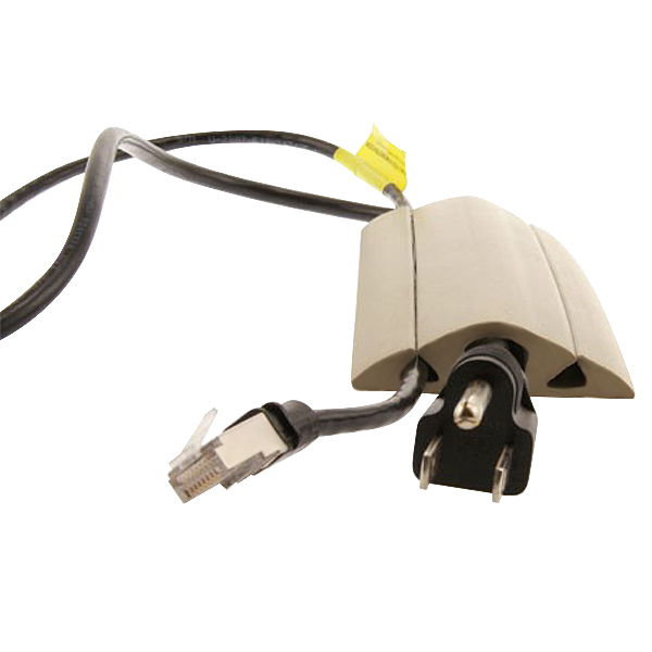 white neoprene floor cord cover and protector in use with cables - icon