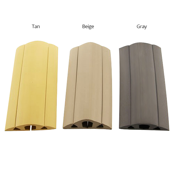 neoprene floor cord cover and protector in tan beige and grey - icon