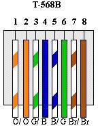 diagram of the T-568B standard