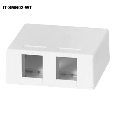 front view of 2 port unloaded surface mount box - icon