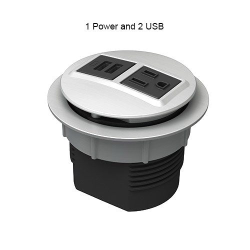 Node 1 Power & 2 USB Port Desk Grommet Outlet - icon