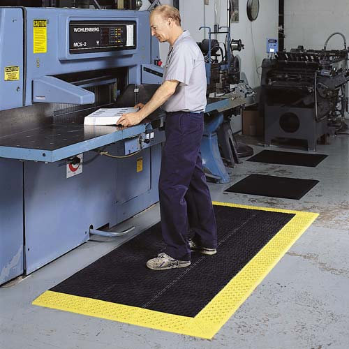 notrax cushion-lok mats in use in at machine work area - icon