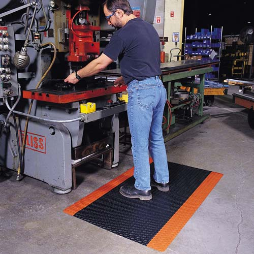 notrax cushiontrax floor mat in use at welding station - icon