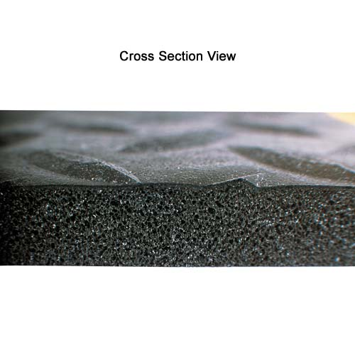 cross section view of NOTRAX Diamond Sof-Tred floor mat with Dyna-Shield - icon