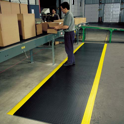 NOTRAX Diamond Sof-Tred floor mats with Dyna-Shield in use at packing station - icon