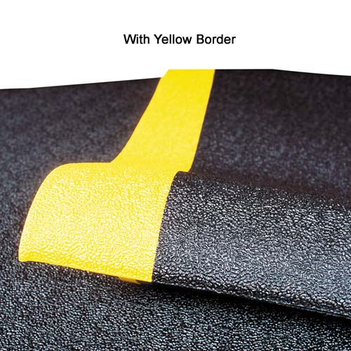 NOTRAX Pebble Step Sof-Tred mat with yellow border - icon