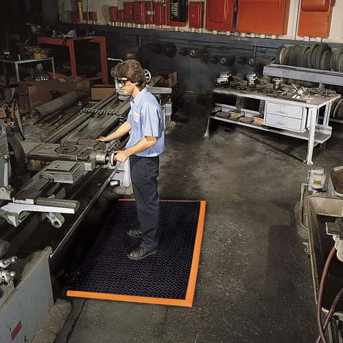 NOTRAX Safety Stance floor mat in use in factory - icon
