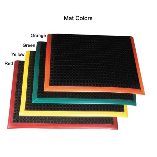 NOTRAX Safety Stance floor mats available in black with red yellow green or orange border - icon